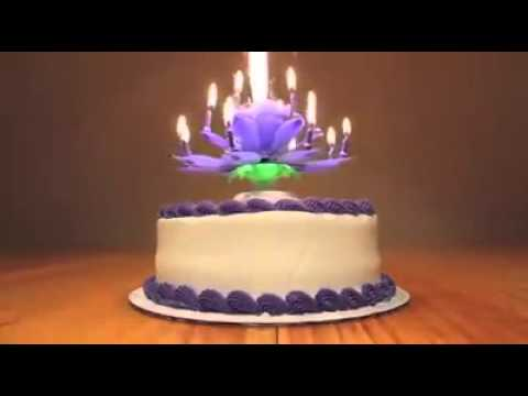 3D Flowering Birthday Candles Play Music