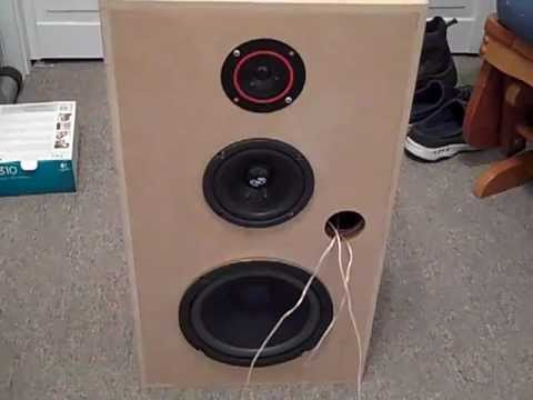 custom 3 way speaker boxes youtube
