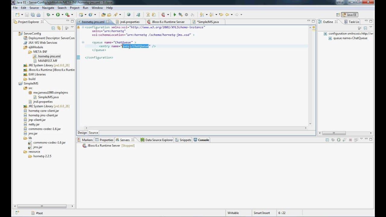 JMS Tutorial #1: Simple JMS P2P on JBoss HornetQ