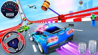 Polis Arabası Sürüş Stunts Yarışı - İmkansız Rampa Araba Simülatörü - Android GamePlay # 2