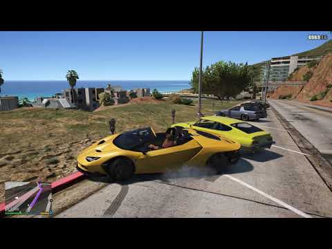 Lamborghini Huracan on the beach - accident to die - Grand Theft Auto 5