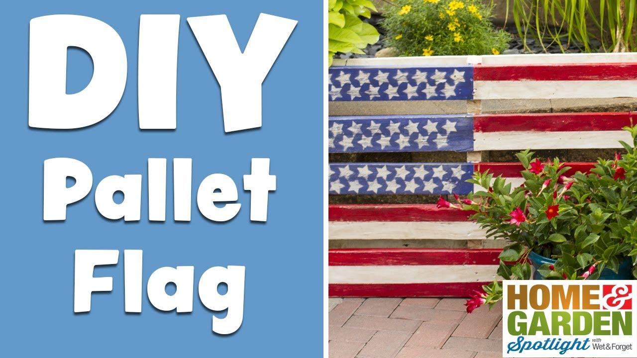 Diy American Flag Pallet Youtube
