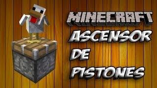 Minecraft - ASCENSOR DE PISTONES DE SUBIDA Y BAJADA - ESPAÑOL [HD] 1080p