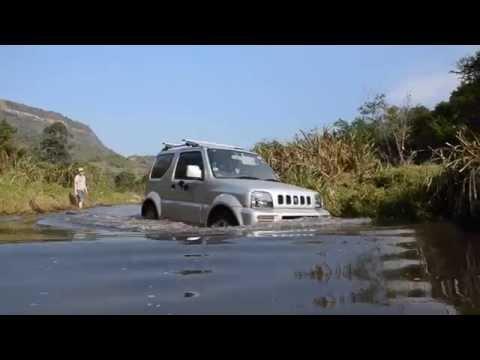 Suzuki Jimny Off Road Rocks Axle Twister River Crossing