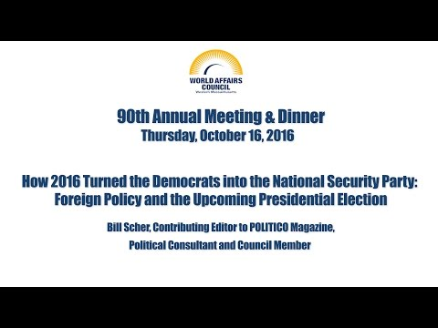 2016 World Affairs Council of Western Massachusetts Annual Meeting with Bill Scher