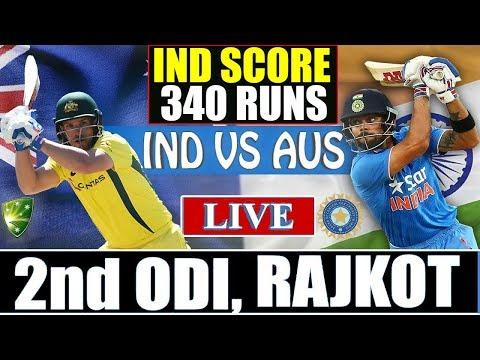 India Vs Australia, 2nd ODI Match | Live Cricket Score | India Score 340 Runs | Highlights