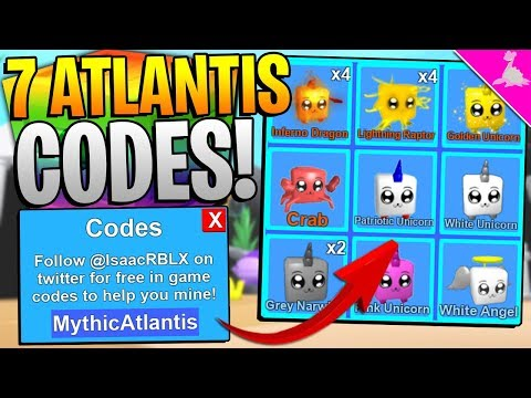 7 ROBLOX MINING SIMULATOR MYTHICAL ATLANTIS UPDATE CODES!
