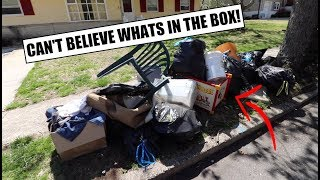 LOOK WHAT WE FOUND TRASH PICKING!?!? - Never Believe What Was In That Box!