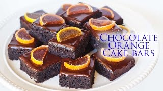 Chocolate Orange Cake Bars