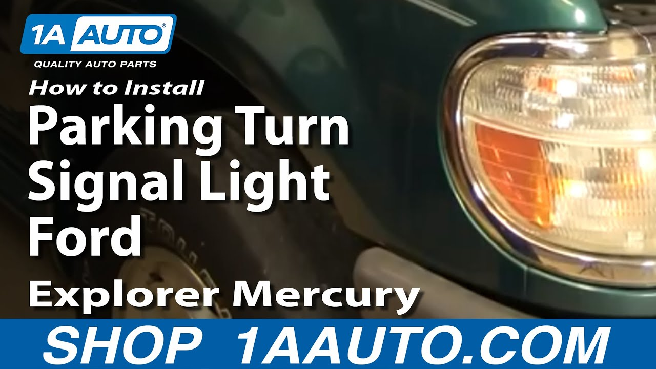 How To Replace Corner Light 95 01 Ford Explorer Youtube
