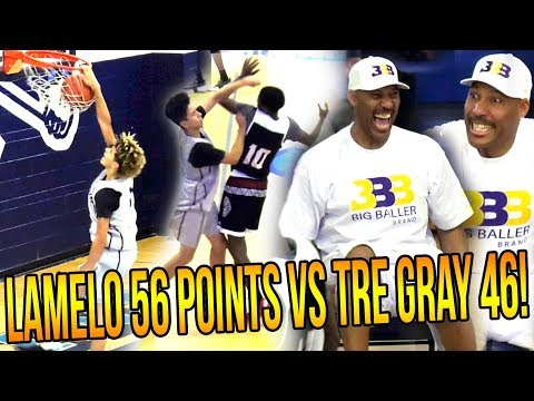 LaMelo CLAMPED UP By REF! LaMelo 56 POINTS in HEATED LOSS vs 46 Points From TRE GRAY!