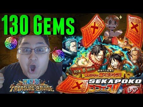 130 Gems | 3 Multi pulls | Treasure Mode Kizaru Sugofest | One PIece Treasure Cruise