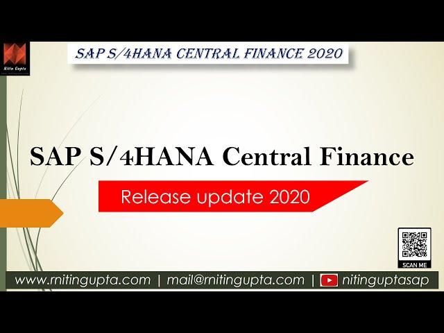 SAP Central Finance 2020