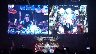 Dream Theater - Enigma Machine + Drum Solo by Mike Mangini (Cartoon Video) LIVE in Rome, Italy, 22 J