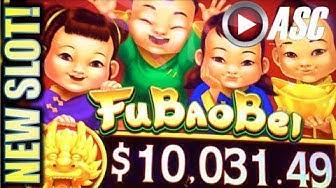 ★G2E 2017 AGS NEW SLOTS PREVIEW!★ FU BAO BEI & MONEY CHARGE JACKPOTS Slot Machine Bonus