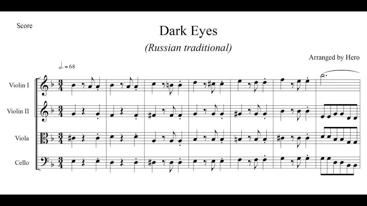 Dark Eyes (Russian traditional) - YouTube