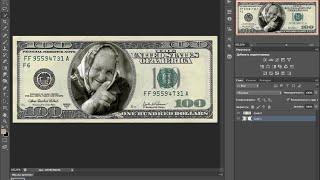 как вставить фото в доллар фотошоп cs6(как вставить фото в доллар свои фото в доллар любые прикольные фото в доллар как сделать вместо американски..., 2015-10-18T21:16:26.000Z)
