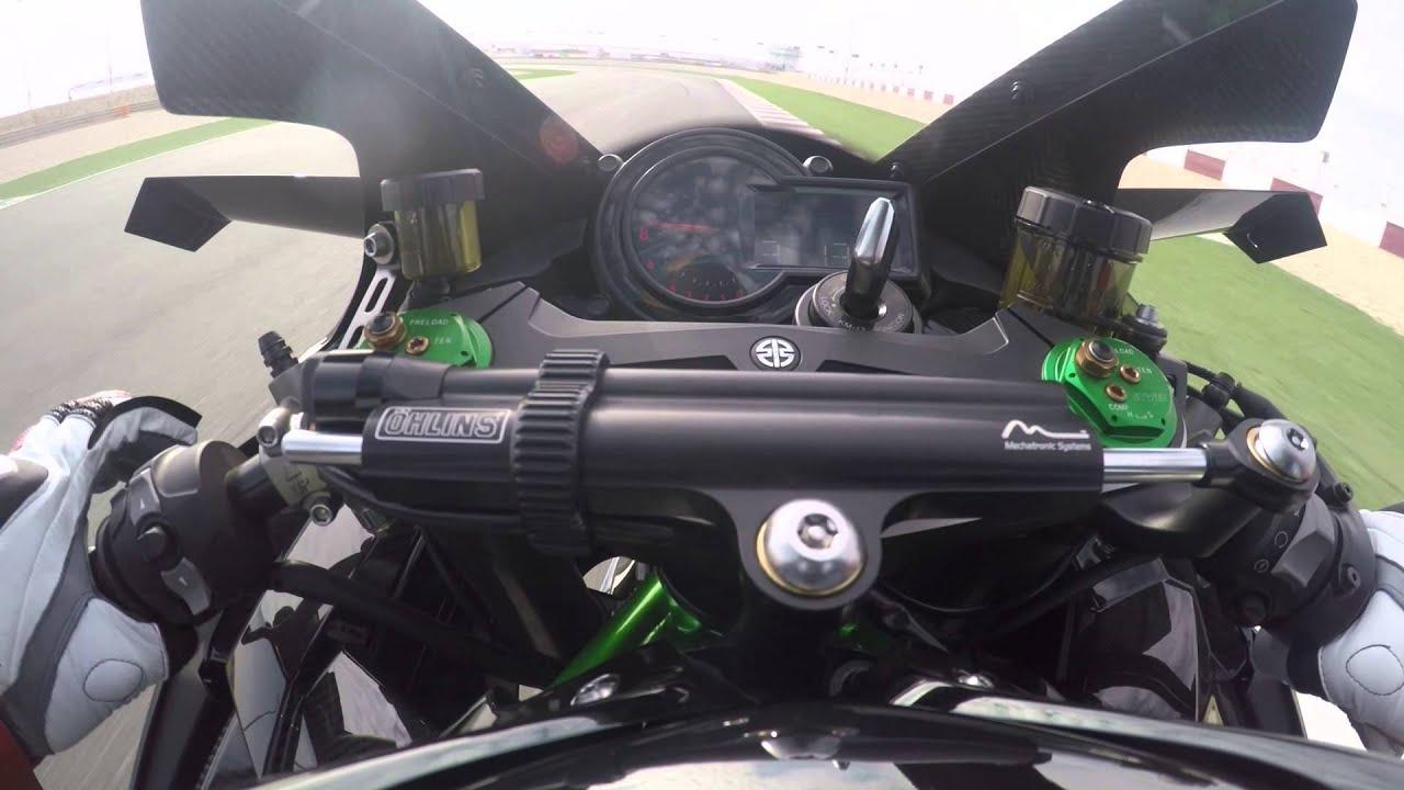 Kawasaki Ninja H2 R Onboard Lap Losail Circuit 300 Kmh 326 Ps
