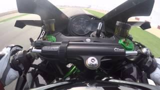 Kawasaki Ninja H2 R onboard Lap - Losail Circuit - 300 km/h - 326 PS