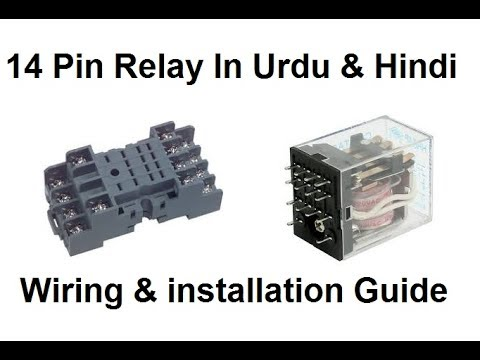 Household Wiring Diagram 120v 14 Pin Relay | Working Base In Urdu & Hindi - Youtube