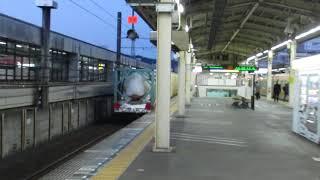 貨物列車EF66107静岡駅通過