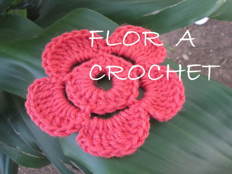 Flor de crochet ganchillo 5 petalos tutorial paso a paso youtube - Labores a ganchillo paso a paso ...