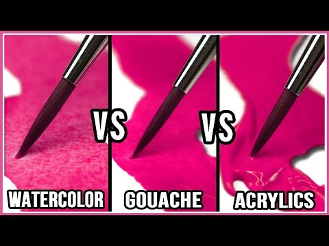 What Is The Difference Between Watercolor, Gouache & Acrylic Paint