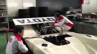 トヨタ7エンジン始動デモンストレーション