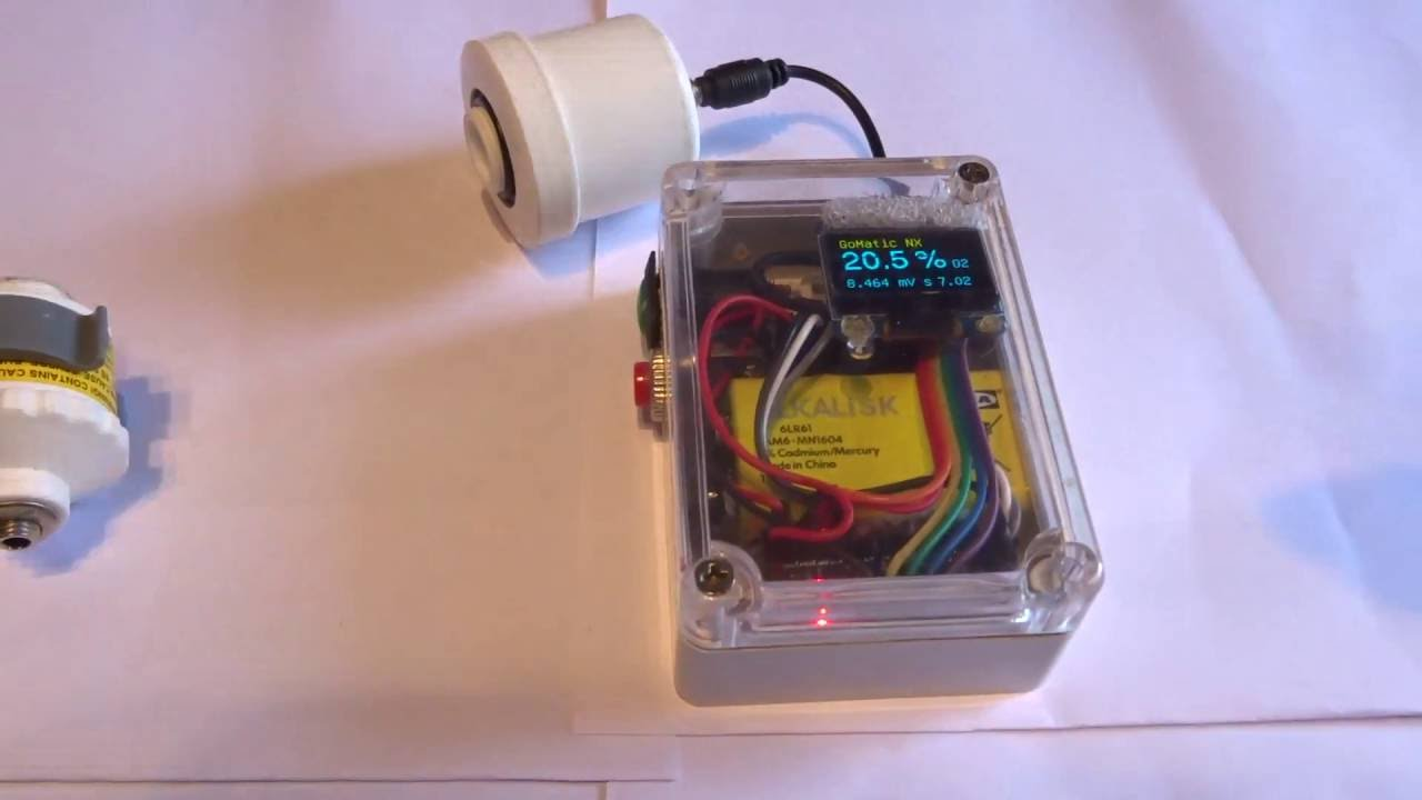 Home made - one hand- Nitrox Analyser Arduino Based by tofgau