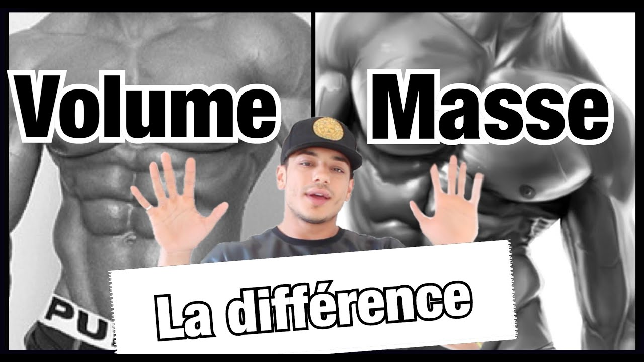 La diff rence entre volume masse musculaire by bodytime for Musculation volume
