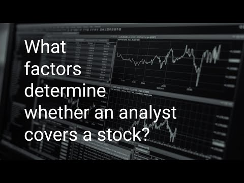 What factors determine whether an analyst covers a stock?