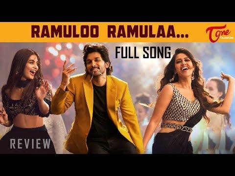 Ramuloo Ramulaa Full Song Review | #AlaVaikunthapurramuloo Allu Arjun, Trivikram, Thaman | TeluguOne