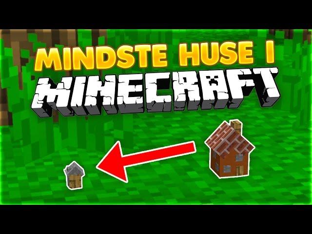 DE MINDSTE HUSE I MINECRAFT!! | ONE COMMAND BLOCK