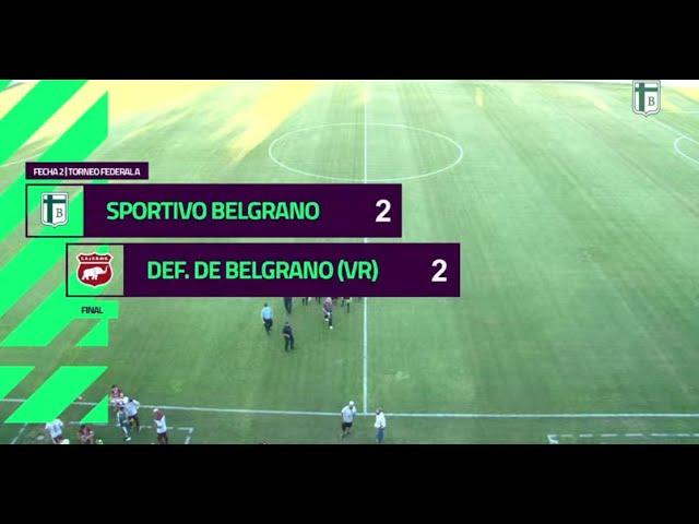 Sportivo Belgrano [2-2] Defensores de Belgrano. Federal A. Fecha 2. 18/4/21