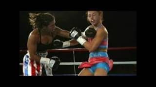 wkb women kick boxing hit the chest match