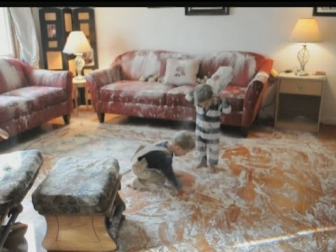 Flour Rampage Toddlers Turn Living Room White With Flour