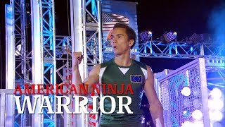 Sean McColl at Stage 2 of American Ninja Warrior USA vs. The World 2014 | American Ninja Warrior