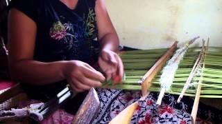 Songket Backstrap Weaving in Muncan Bali INDONESIA  by  Ni Ketet Yasa