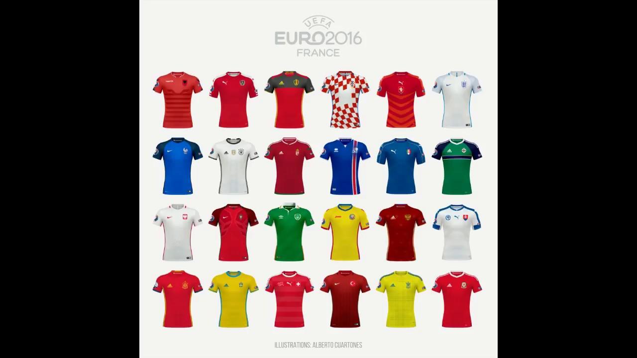 EURO 2016 Home Jerseys - YouTube