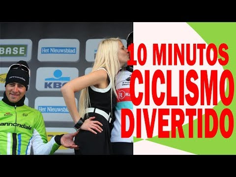 10 minutos chistosos de ciclismo | caídas, bailes, bromas.