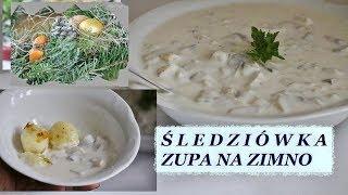 Śledziówka wigilijna  zupa na zimno przepis
