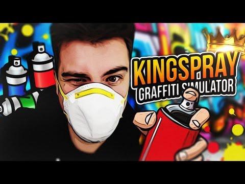 WIRTUALNE GRAFFITI!   Kingspray Graffiti VR (HTC Vive Virtual Reality)