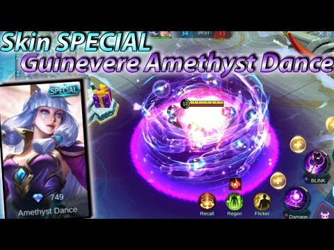 New Skin Special Guinevere Amethyst Dance Gameplay With No Cooldown - Mobile Legends
