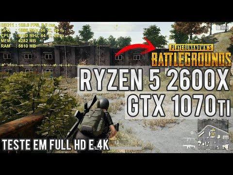 Teste R5 2600x e GTX 1070 Ti HOF em PUBG Battlegrounds   Full HD e 4K