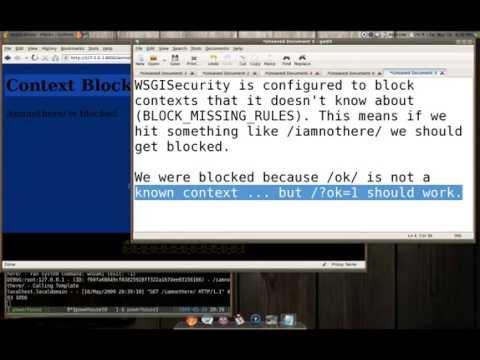 WSGISecurity  Pre-Alpha Demo