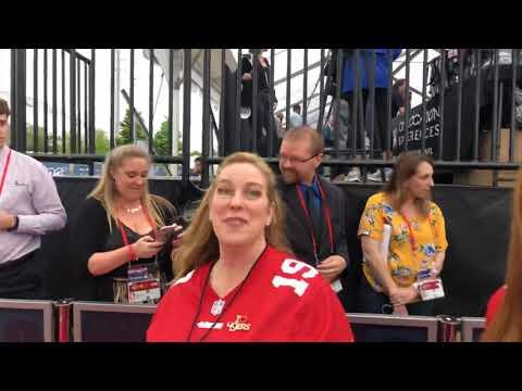 NFL Team Season Ticket Superfans Interviews At 2019 NFL Draft Red Carpet