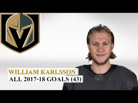 William Karlsson (#71) All 43 Goals of the 2017-18 NHL Season