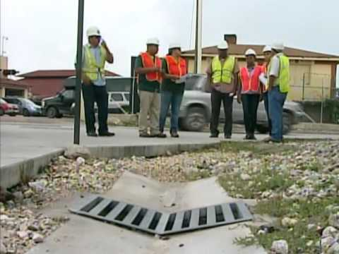 Ministry of Works Engineers Tour Belize City Canals