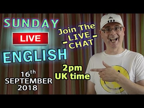 Learn English Live - 16th September 2018 - Watch / Listen / Learn - Enjoy English - Duncan And Steve