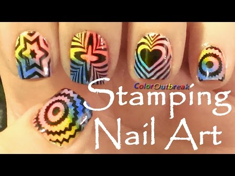☆Stamping Nail Art Designs-Crosses, Stars, Hearts, Circles and Flower  Plate BP-11 BPS☆